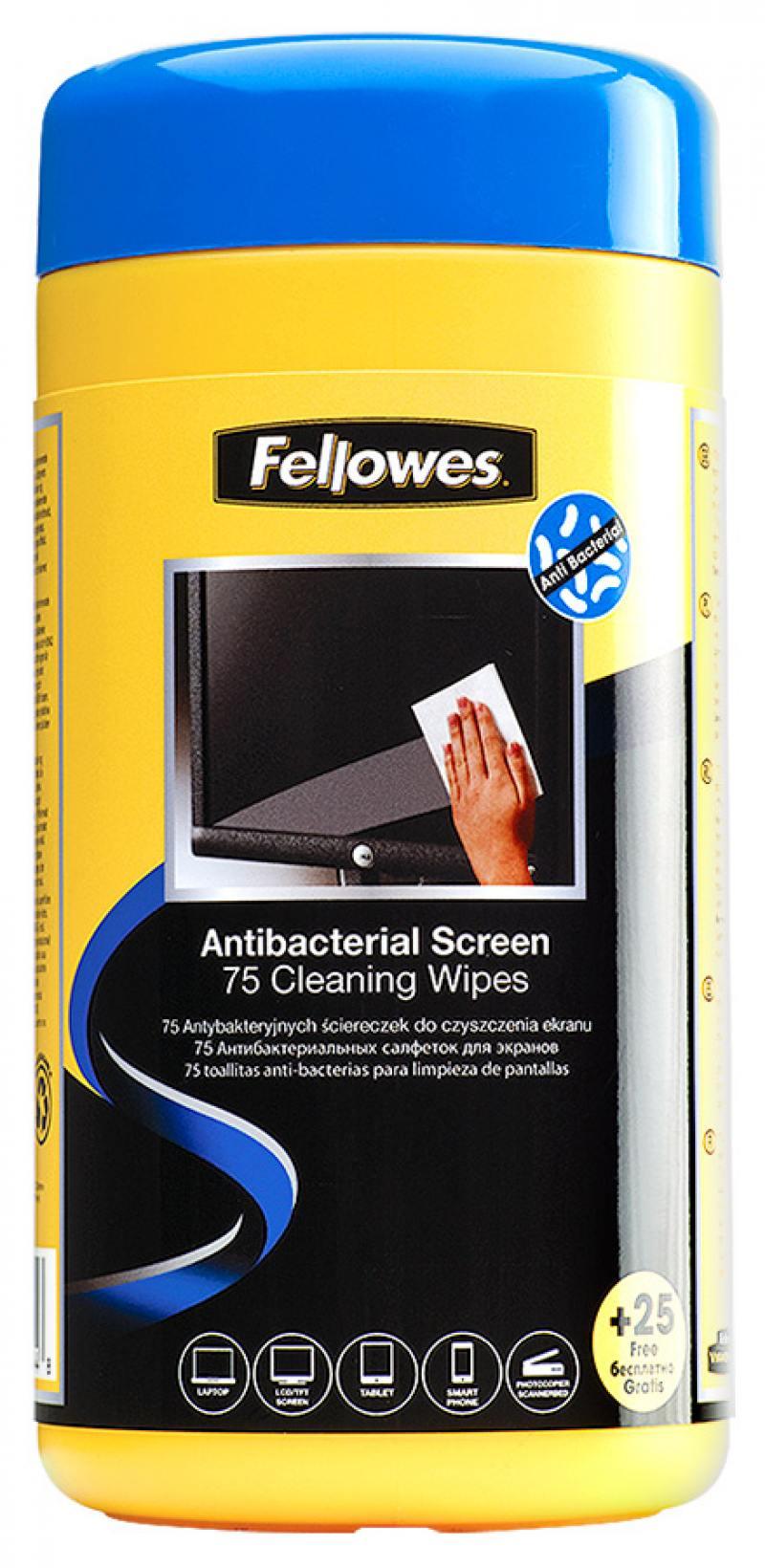 Влажные салфетки Fellowes FS-22117 100 шт влажные салфетки fellowes fs 22117 100 шт