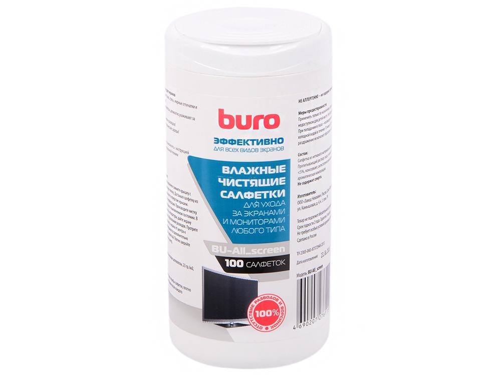 влажные салфетки buro bu tsurl 100 шт Влажные салфетки BURO BU-All_screen 100 шт