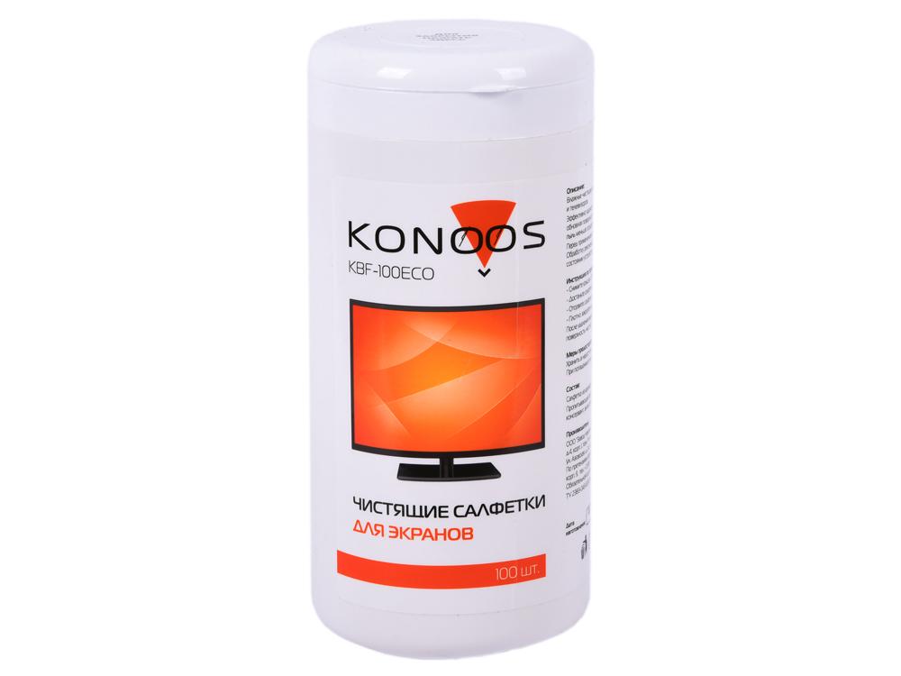 Картинка для Салфетки Konoos KBF-100ECO для ЖК-экранов в банке, 100 шт.