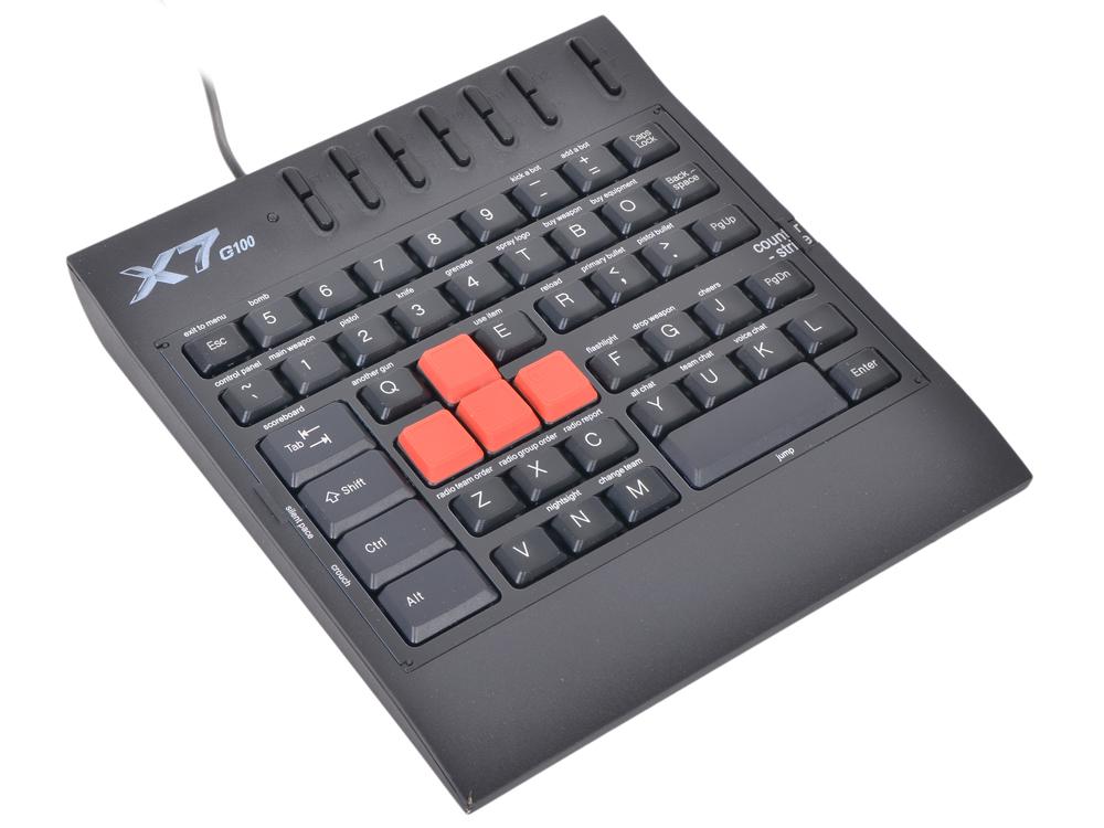 Клавиатура A4Tech X7-G100 Черная, игровая a4tech x7 500mp