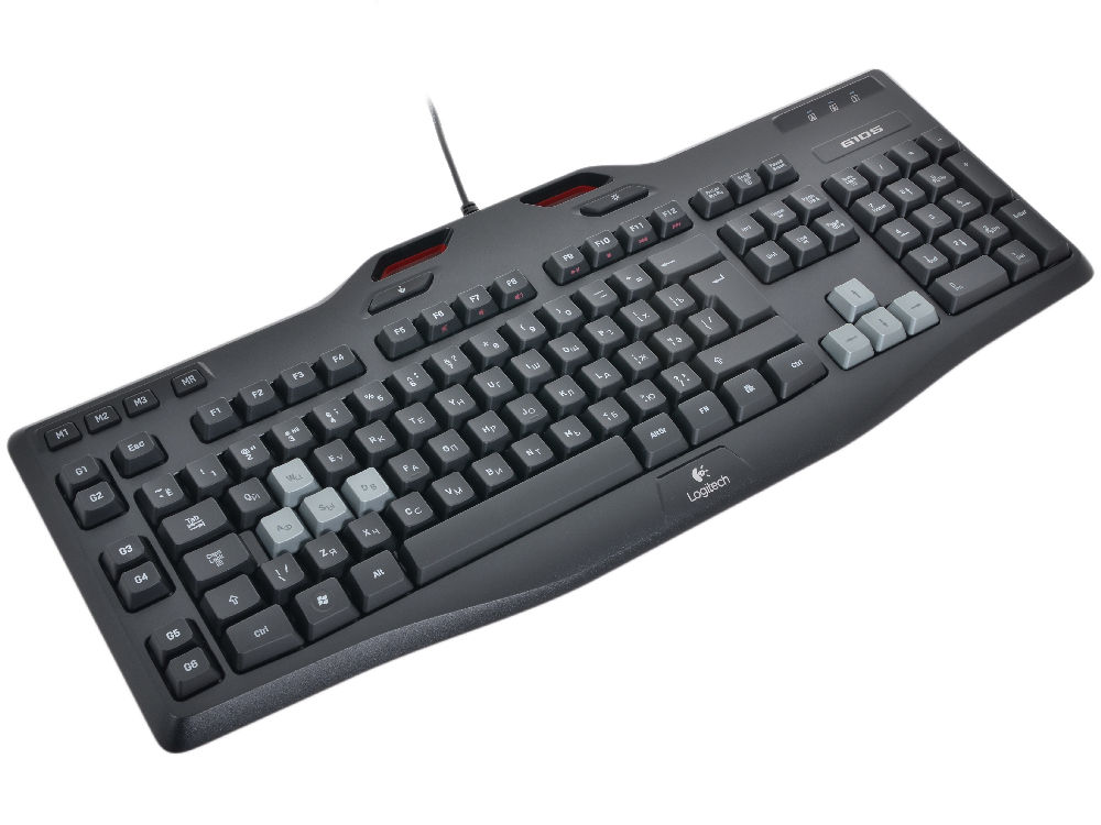 Клавиатура Logitech Gaming G105 Black USB проводная, 104 клавиши + 17 клавиатура logitech gaming keyboard g105 usb 920 005056