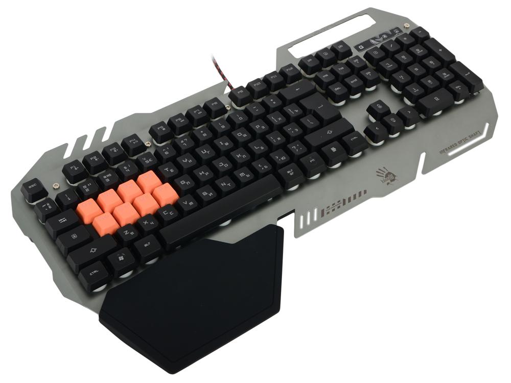 Клавиатура A4Tech Bloody B418 USB Multimedia Gamer LED цена и фото