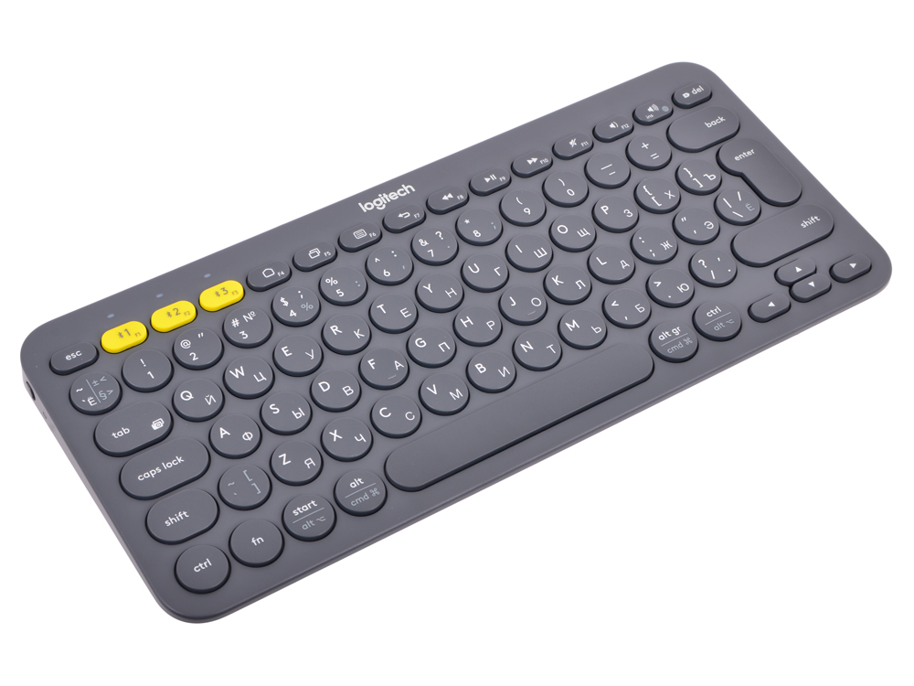 (920-007584) Клавиатура Беспроводная Logitech Wireless Bluetooth Multi-Device Keyboard K380 Dark Grey беспроводная клавиатура logitech wireless multi device keyboard and stand combo k375s graphite usb