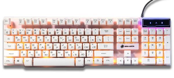 Клавиатура Dialog Gan-Kata KGK-15U White USB проводная, мембранная
