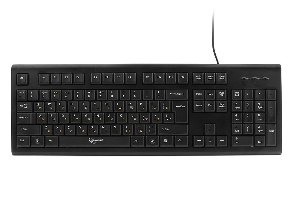 Клавиатура Gembird KB-8353U Black USB 104 клавиши клавиатура мышь sven kb s330c black silver usb 104 клавиши