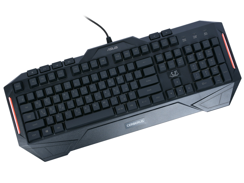Клавиатура ASUS CERBERUS MKII Black USB проводная клавиатура проводная asus rog claymore core brown switches usb черный 90mp00i1 bora00