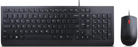 цена на Клавиатура + мышь Lenovo Essential Wired Combo Black USB