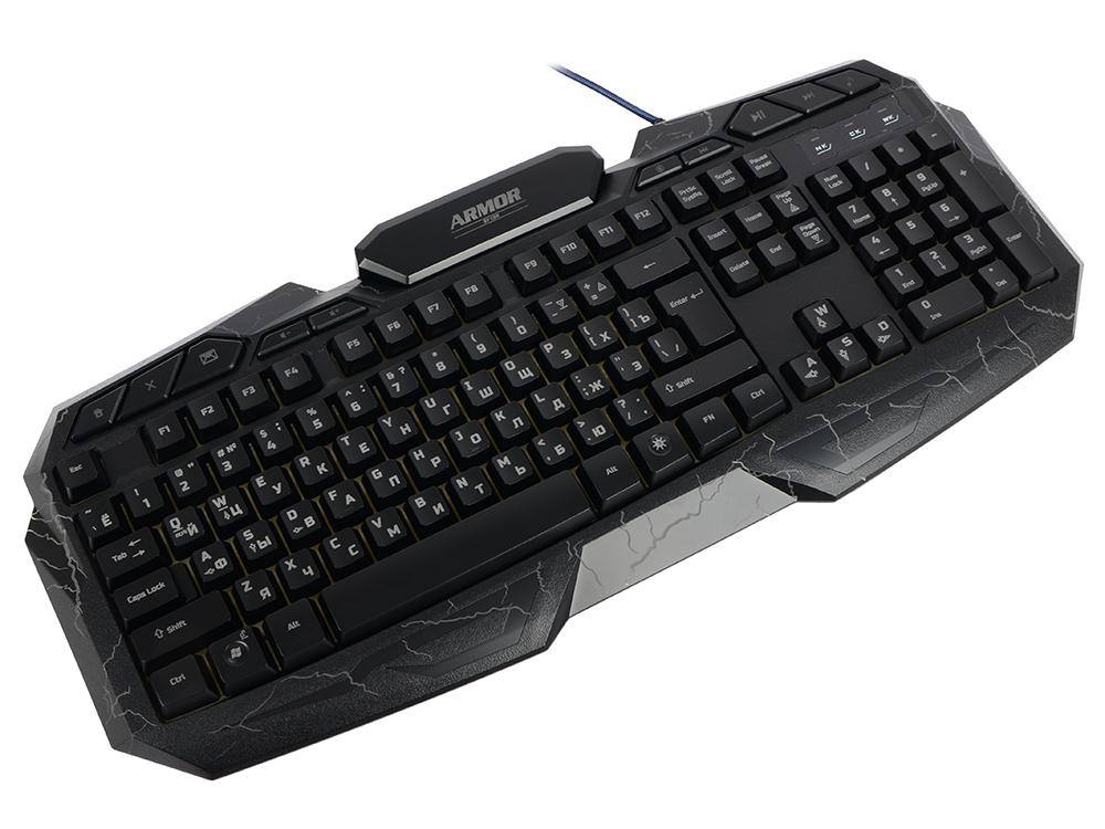 где купить Клавиатура игровая CBR KB 875 Armor Black USB Проводная, 114 клавиш дешево