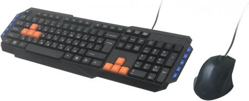 Комплект Ritmix RKC-055 USB Black USB 1000dpi, 2 + колесо-кнопка цена и фото