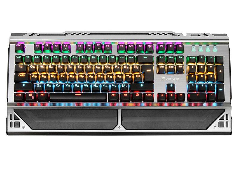 Клавиатура Oklick 980G Black USB 104 клавиши, механическая цена 2017