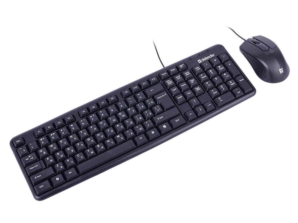 Комплект Defender Dakota C-270 Black USB 1000dpi, 2 кнопки + колесо- кнопка набор defender dakota c 270 ru black 45270