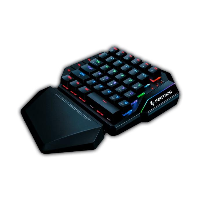 лучшая цена Проводная профессиональная игровая программируемая механическая клавиатура Jet.A Panteon T7 LED, USB