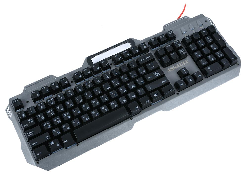 Клавиатура Defender Assault GK-350L Silver USB проводная цена