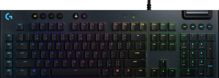 Клавиатура Logitech RGB Mechanical Gaming Keyboard G815 LINEAR SWITCH Black USB