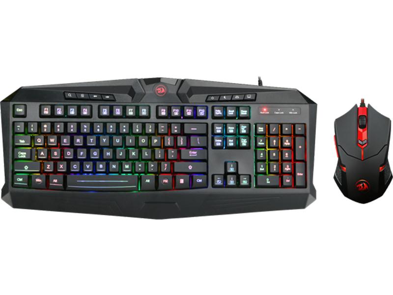 Игровой набор Redragon S101-1 RU Black USB клавиатура: 104 клавиши / мышь: оптическая, 3200dpi, 5 кнопок + колесико