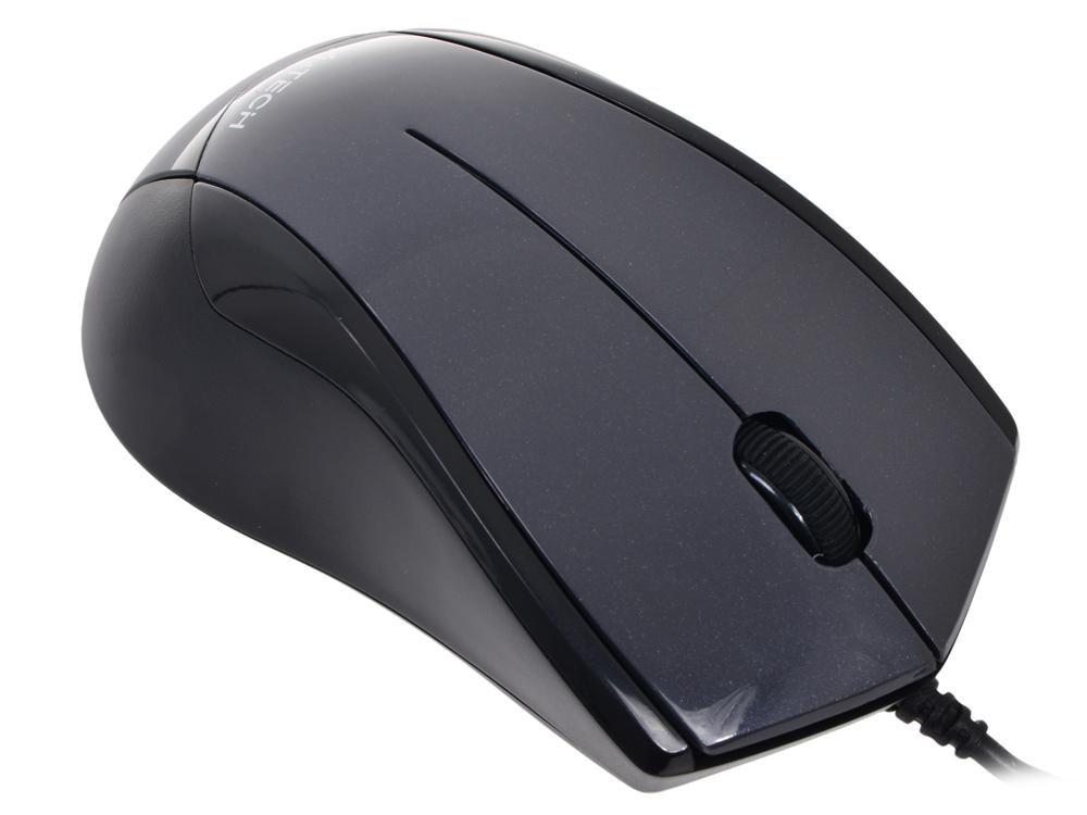 лучшая цена Мышь A4-Tech N-400-1 USB (GLOSS.GRAY)