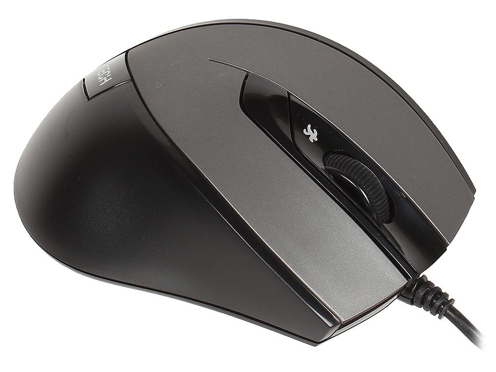 лучшая цена Мышь A4 tech N-600X-2 Black/Grey USB проводная, оптическая, 1600 dpi, 2 кнопки + колесо