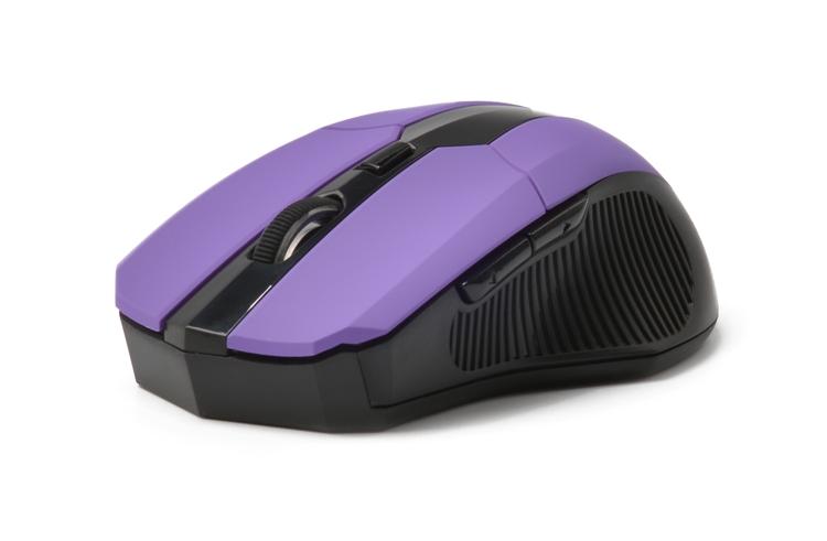 лучшая цена Мышь беспроводная CBR CM-547 Purple USB оптическая, 2400 dpi, 5 кнопок + колесо