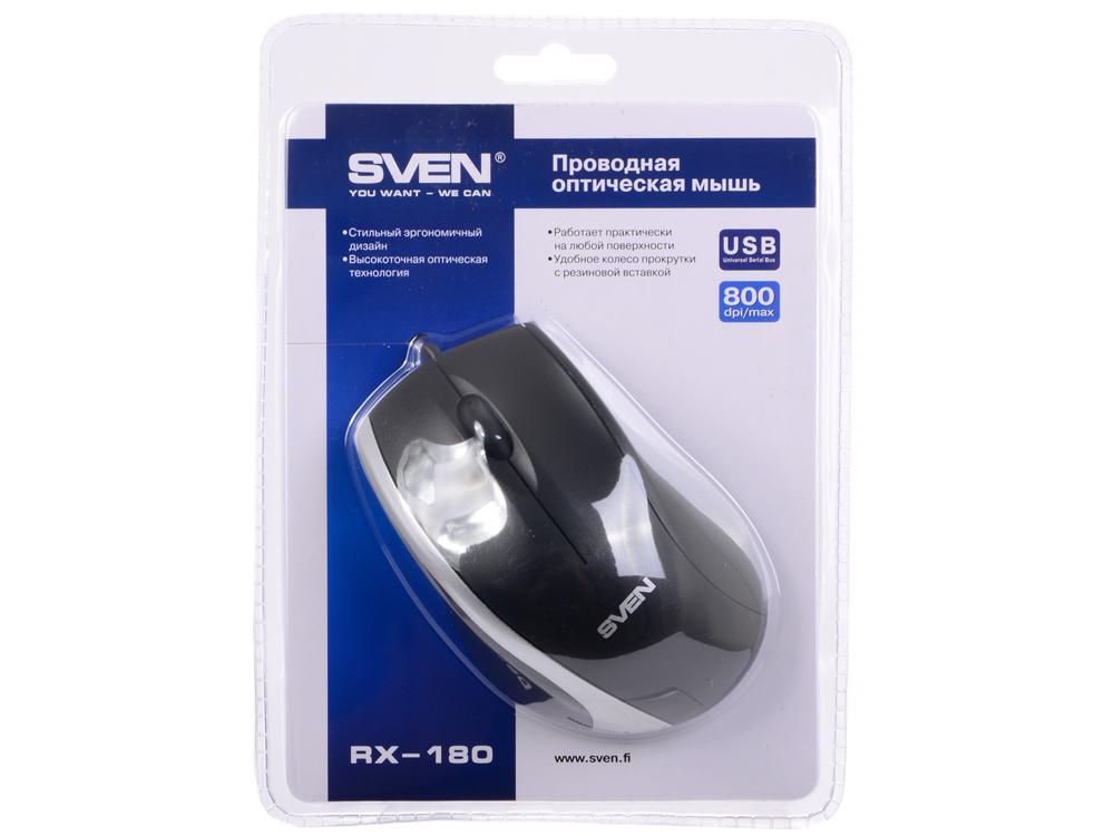 лучшая цена Мышь Sven RX-180 чёрная
