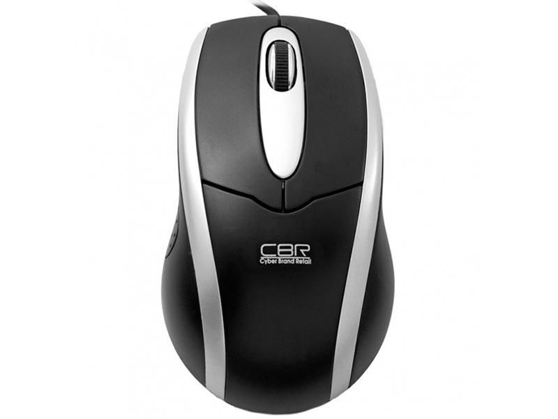 Мышь CBR CM-101 Black, оптика, 1200dpi, офисн., USB