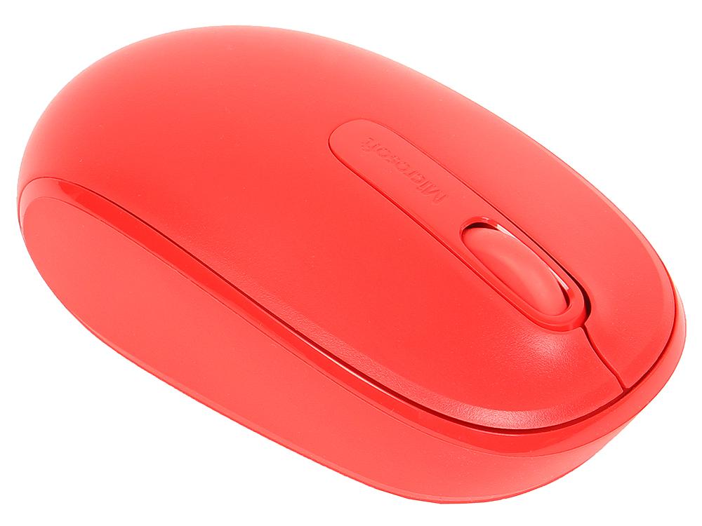 Фото - (U7Z-00034) Мышь Microsoft Mobile Mouse 1850 красный, беспроводная (1000dpi) USB2.0 для ноутбука мышь microsoft wireless mobile mouse 1850 cyan blue u7z 00058
