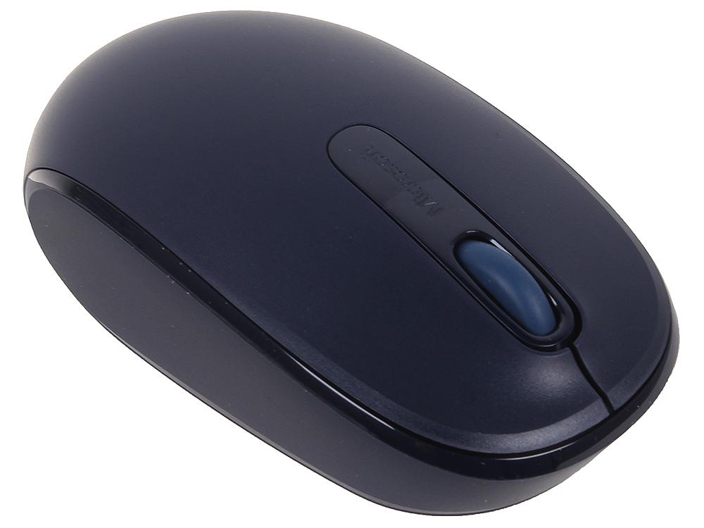 лучшая цена (U7Z-00014) Мышь Microsoft Mobile Mouse 1850 синий, беспроводная (1000dpi) USB2.0 для ноутбука