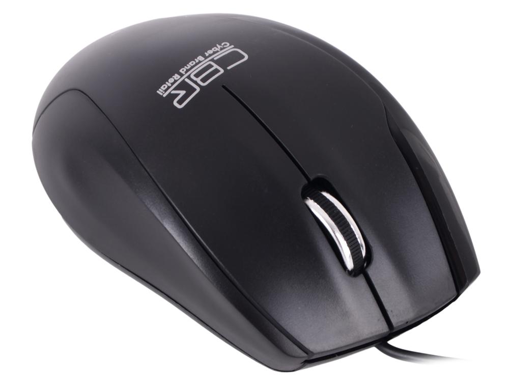 Мышь CBR CM-307 Black USB проводная, оптическая, 1200 dpi, 2 кнопки + колесо цена и фото