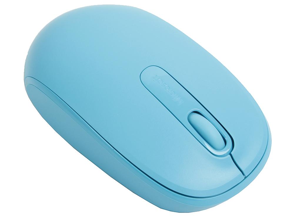 Фото - Мышь Microsoft 1850 Cyan Blue (U7Z-00058) USB мышь microsoft wireless mobile mouse 1850 cyan blue u7z 00058