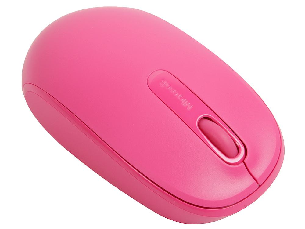 Мышь беспроводная Microsoft 1850 Pink USB(Radio) оптическая, 1000 dpi, 2 кнопки + колесо