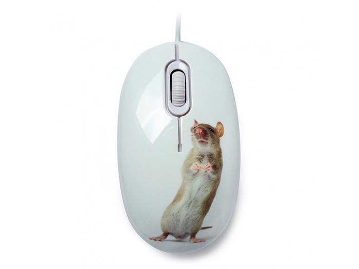 лучшая цена Мышь сувенирная+ коврик CBR Capture, 1200 dpi, рисунок, USB