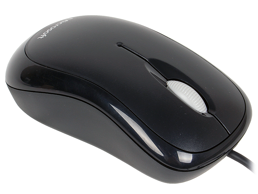 Мышь Microsoft Basic Black Black USB проводная, оптическая, 1000 dpi, 2 кнопки + колесо мышь steelseries rival 310 black usb проводная оптическая 12000 dpi 5 кнопок колесо