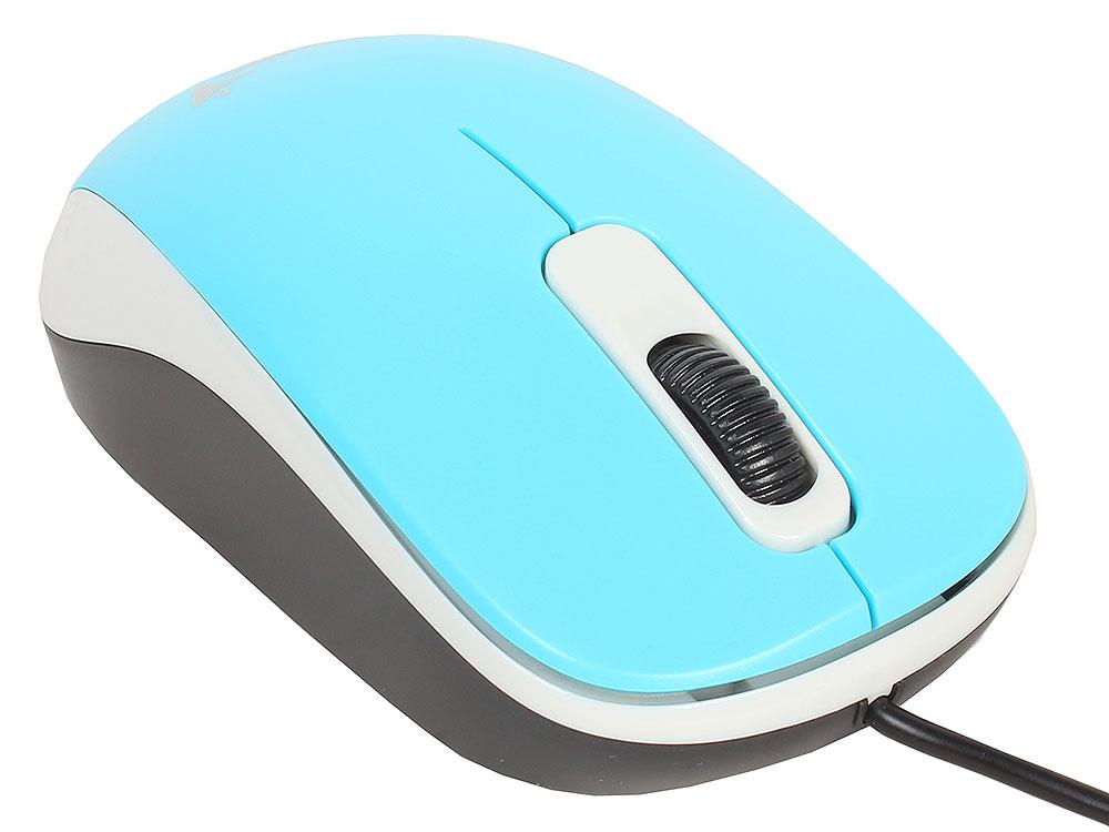 Мышь Genius DX-110 Blue, оптическая, 1200 dpi, 3 кнопки, USB мышь genius dx 100x blue usb 31010229102