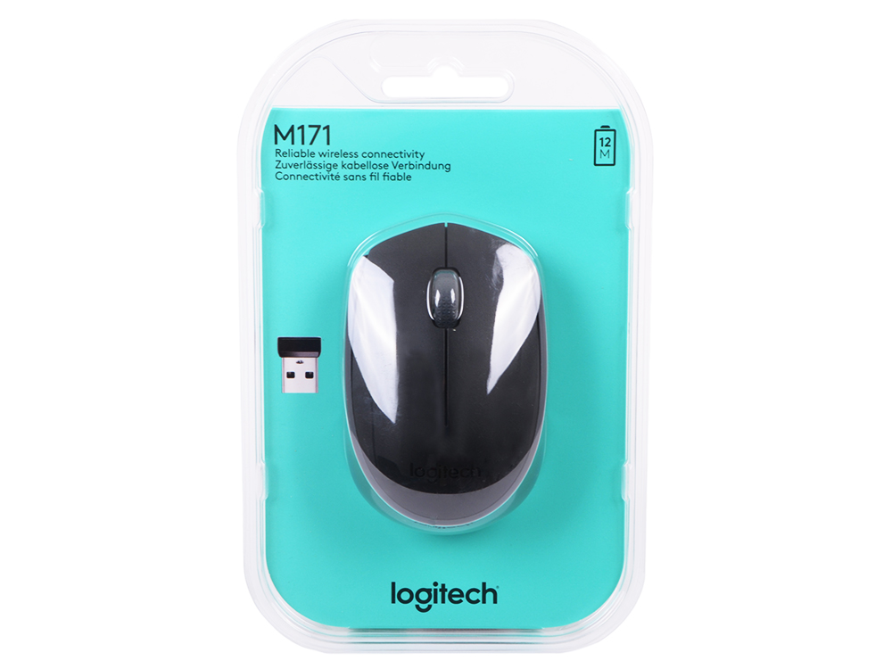 лучшая цена Мышь (910-004424) Logitech Wireless Mouse M171, Black