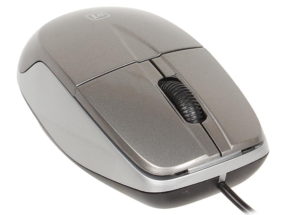 Мышь DEFENDER MS-940 Gray USB проводная, оптическая, 1200 dpi, 3 кнопки + колесо мышь оптическая defender flash mb 600l оптическая три кнопки колесо конпка 1200 dpi