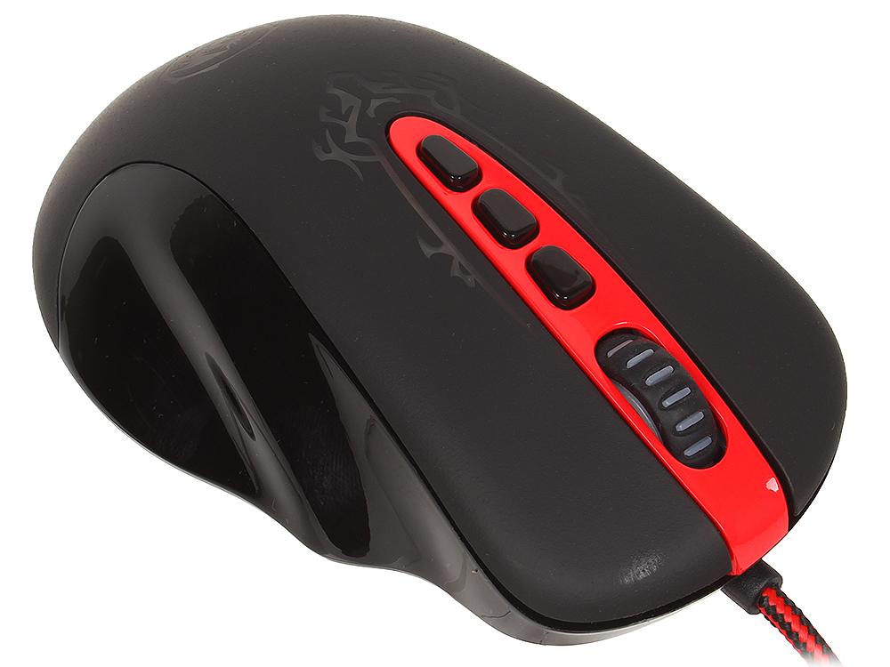 лучшая цена Мышь Redragon Origin Black Red USB проводная, оптическая, 4000 dpi, 10 кнопок + колесо