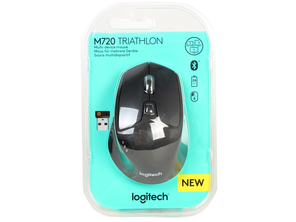Мышь (910-004791) Logitech Wireless Mouse M720 Triathlon мышь logitech m525 wireless mouse blue usb 910 004933
