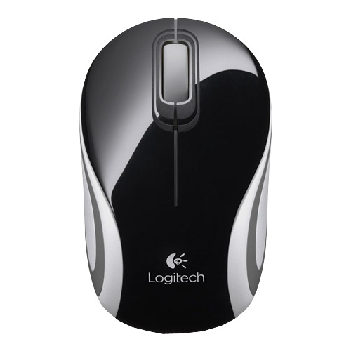 лучшая цена Мышь (910-002731) Logitech Wireless Mini Mouse M187, Black