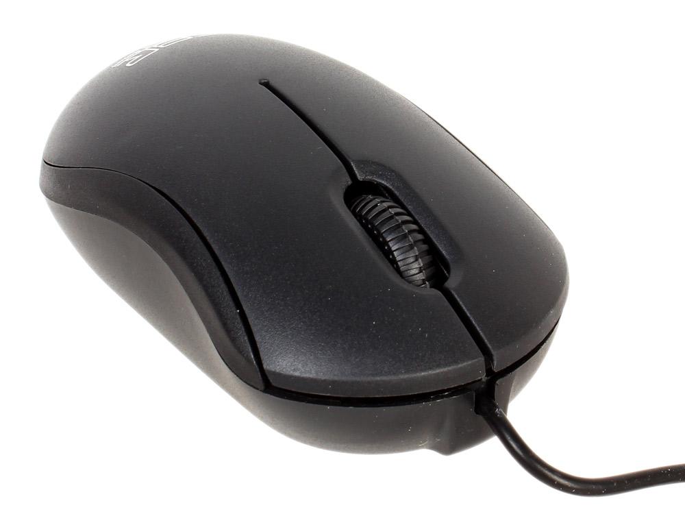 Мышь CBR CM 112 Black, оптика, 1200dpi, офисн., провод 1.3 метра, USB