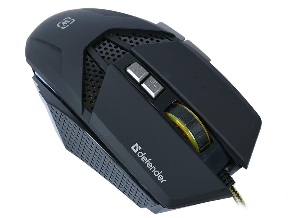 Мышь игровая Defender Warhead GM-1780 оптика,8 кнопок,1000-2500 dpi