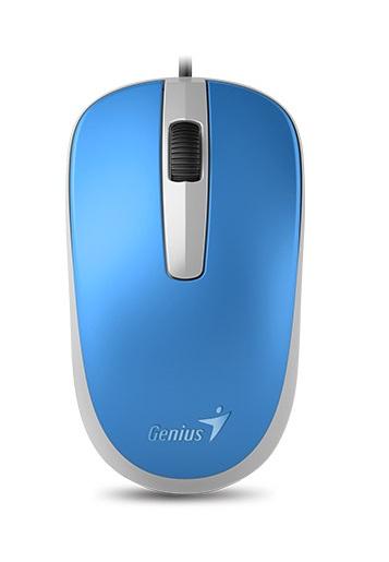 лучшая цена Мышь проводная Genius DX-120 голубой USB