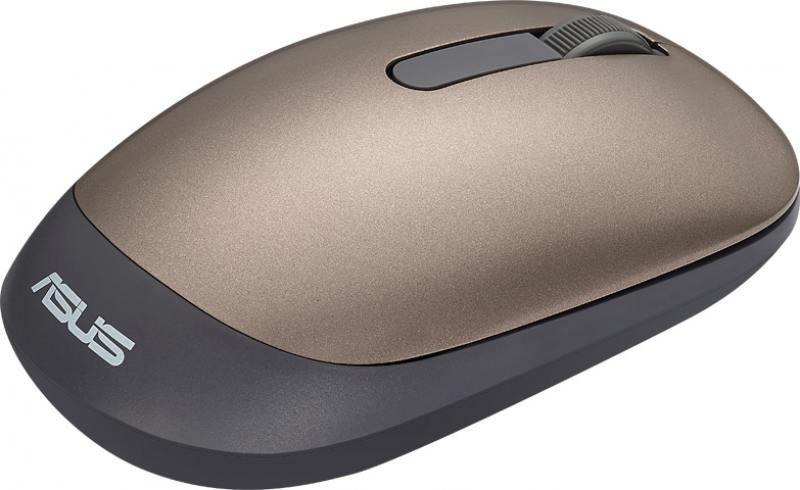 лучшая цена Мышь беспроводная ASUS WT205 золотистый USB 90XB03M0-BMU000