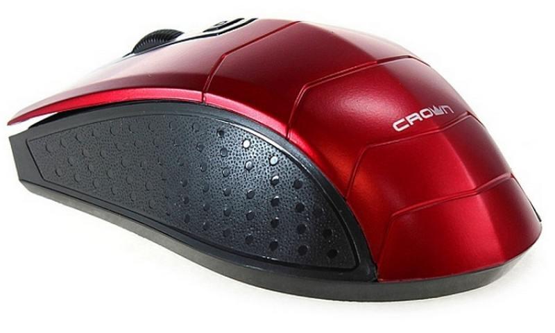 Мышь беспроводная Crown CMM-934W красный USB