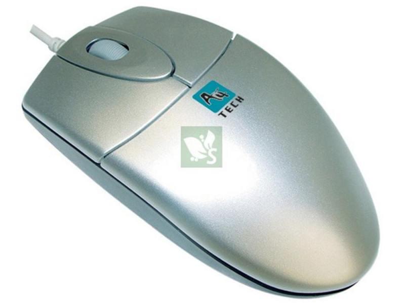 лучшая цена Мышь A4Tech OP-720 серебристый PS/2