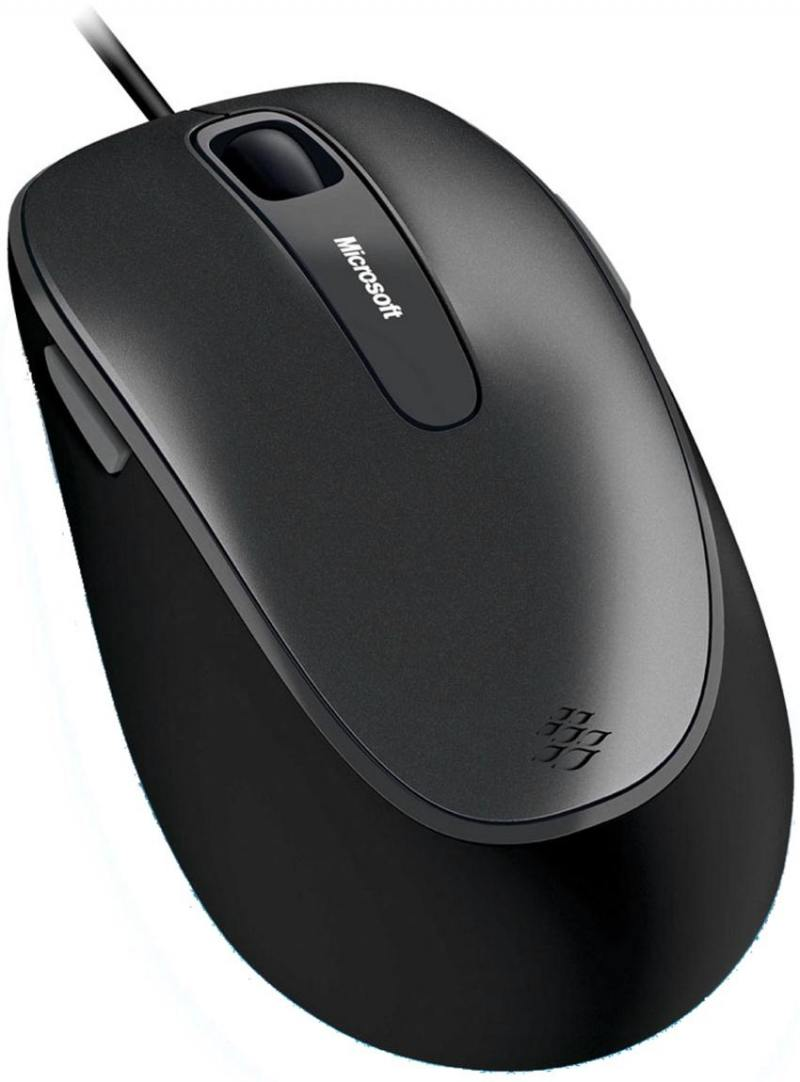 лучшая цена Мышь проводная Microsoft Comfort 4500 чёрный серый USB 4EH-00002