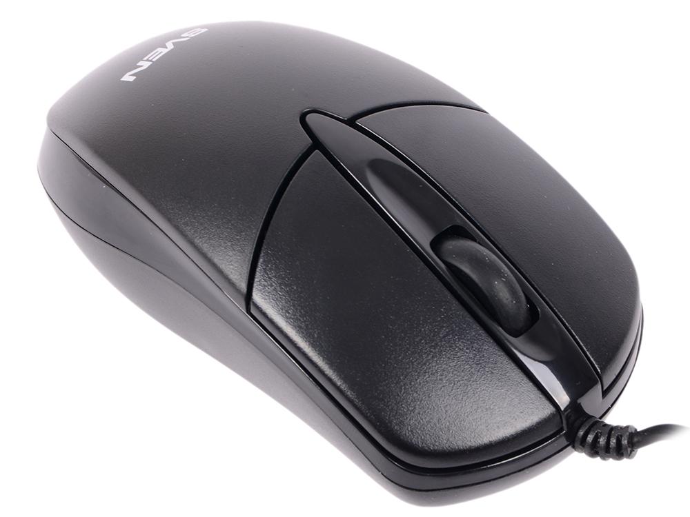 цена Мышь проводная Sven RX-112 чёрный USB + PS/2