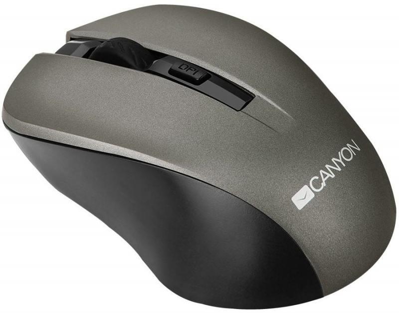 Мышь беспроводная Canyon CNE-CMSW1G Gray USB оптическая, 1200 dpi, 3 кнопки + колесо цена