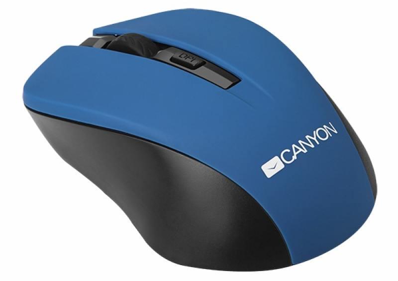 Мышь беспроводная CANYON CNE-CMSW1BL Black Blue USB оптическая, 1200 dpi, 3 кнопки + колесо все цены