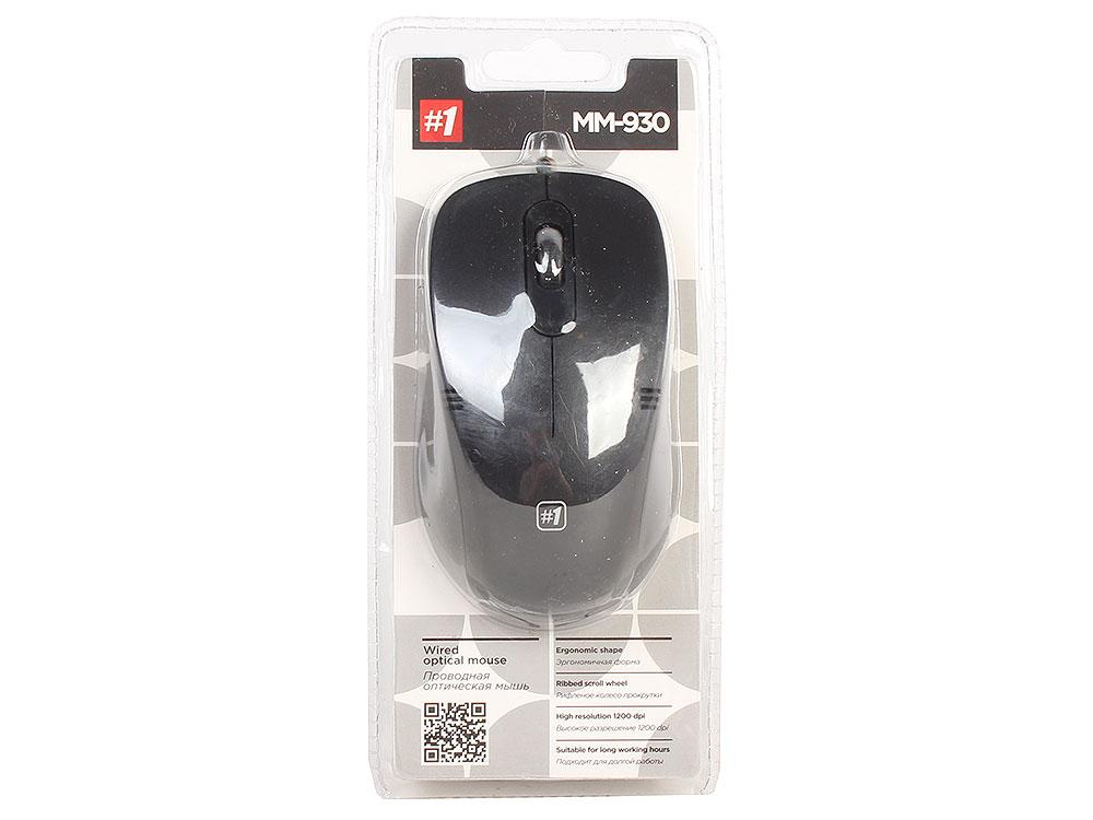 цена на Проводная оптическая мышь Defender MM-930 черный,3 кнопки,1200dpi