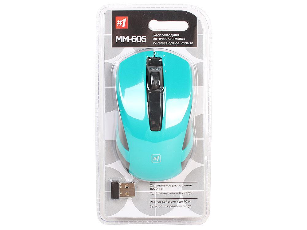 лучшая цена Мышь беспроводная Defender MM-605 Green USB оптическая, 1200 dpi, 2 кнопки + колесо