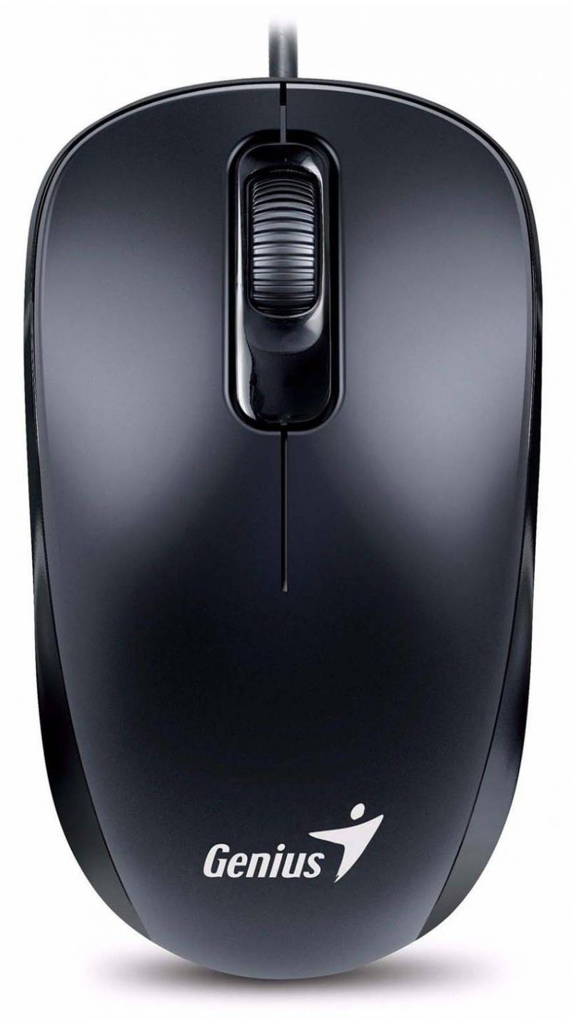лучшая цена Мышь Genius DX-110 Black, оптическая, 1000 dpi, 3 кнопки+колесо прокрутки, провод 1,5 м, PS/2